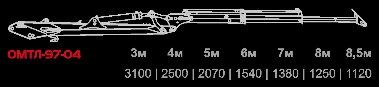 Схема грузоподъемности ОМТЛ-97-04