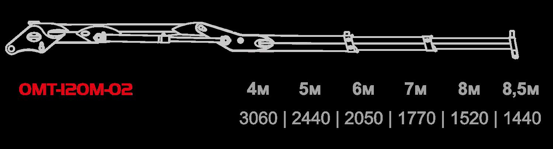 Схема грузоподъемности ОМТ-120М-02